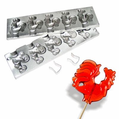 Форма для приготовления леденцов и конфет «Петушки»