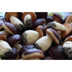 Вкусные печенья грибочки