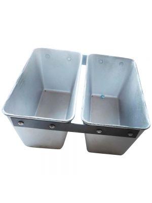"""Форма двойная алюминиевая Л7 для выпечки стандарного социального хлеба """"Кирпичика"""" (22х11х11,5 см)"""