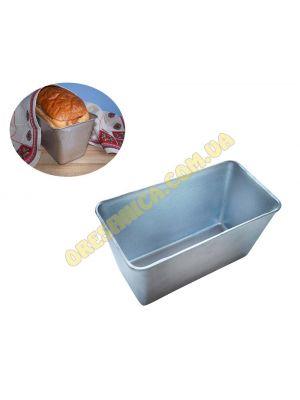 """Форма хлібна для випічки стандартного """"соціального"""" хліба цеглинки Л7 алюміній /22*11*11.5 см /"""