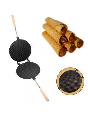 Форма для выпечки вафель — вафельница круглая большая (220 мм) с антипригарным (тефлоновым) покрытием