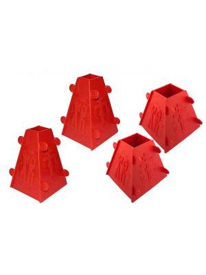 Набір з 4 форм для сирної паски 2x1.0 кг / 2x0.5 кг