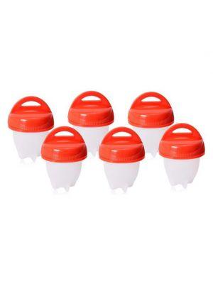 Набор из 6 силиконовых форм для варки яиц без скорлупы (пашот)