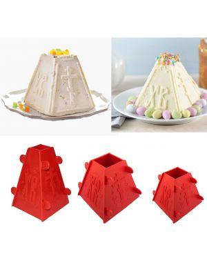 Набор из 3 форм для творожной и сырной пасхи (пасочницы) 1.0 кг /  0.5 кг / 0.3 кг