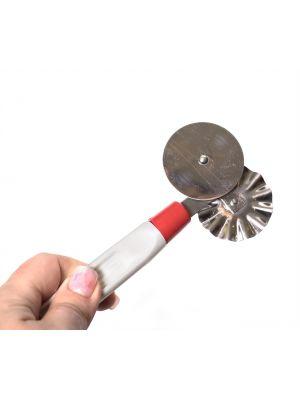 Универсальный нож соединительный для теста и нарезки пиццы с роликом 2 в 1