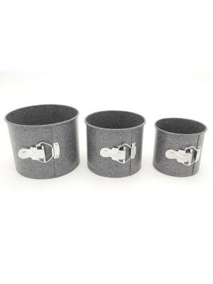 Набор из 3 разъемных форм для выпечки пасхи (паски) с антипригарным покрытием с мраморной крошкой